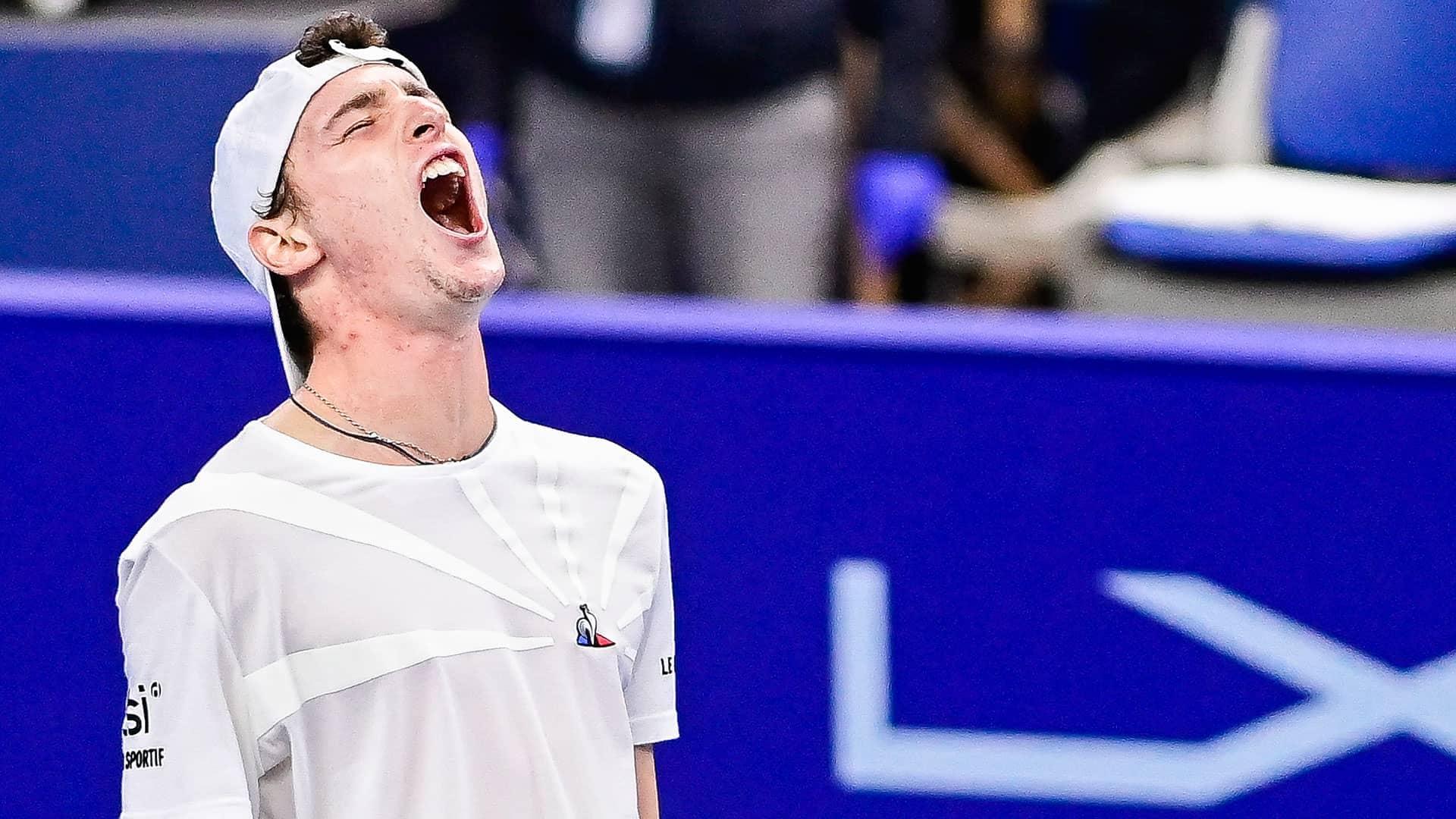 Ugo Humbert Saves 4 M.P. In Antwerp Comeback For Final Spot | ATP Tour |  Tennis