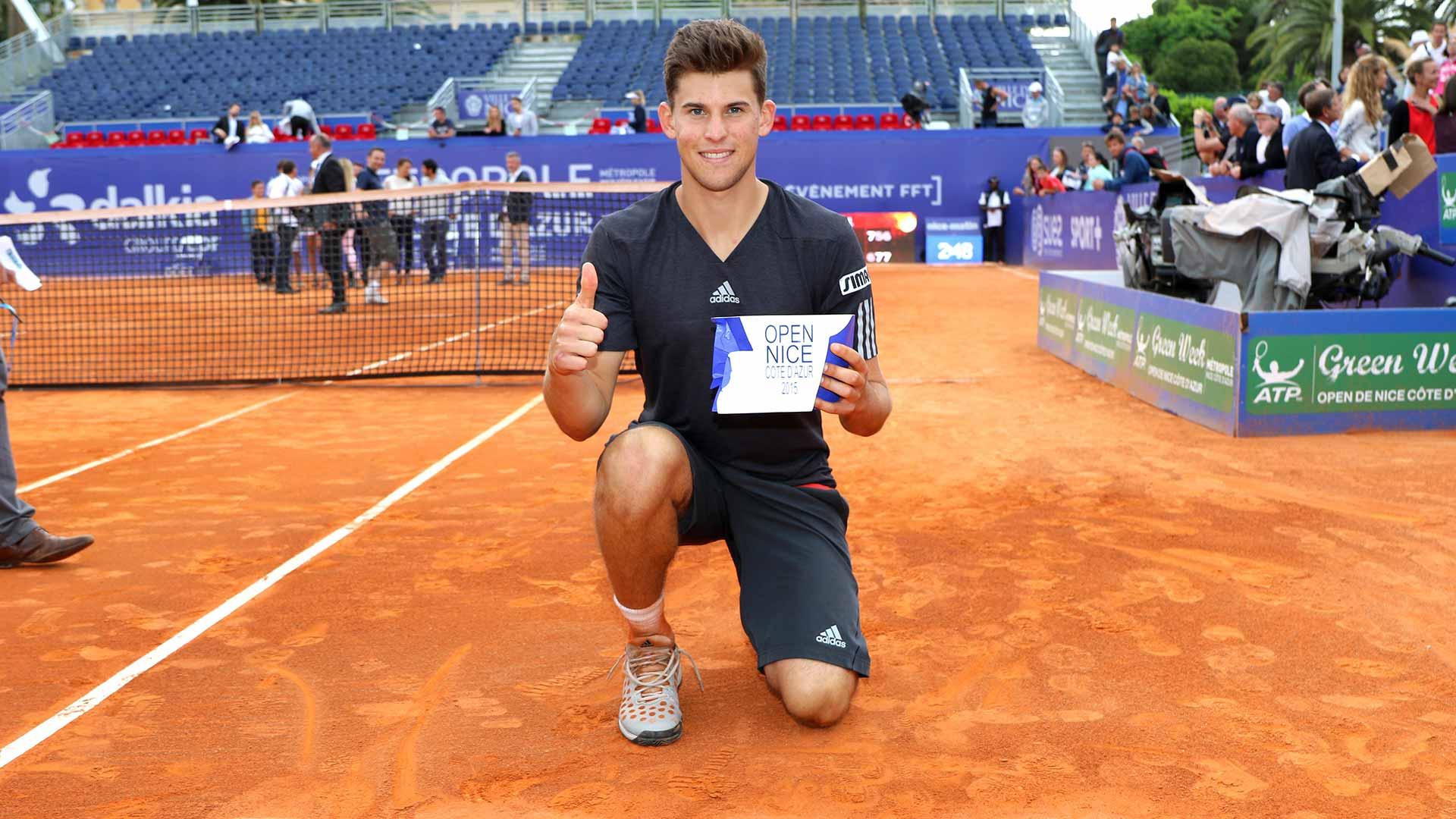 Thiem remporte son premier titre ATP à Nice. © atpworldtour.com
