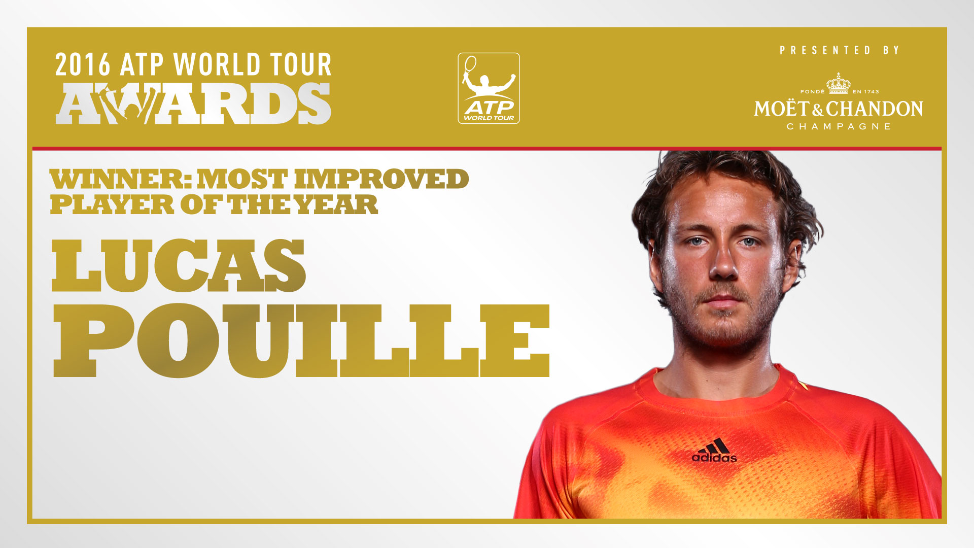 pouille honored as most improved player of the year atp awards 2016