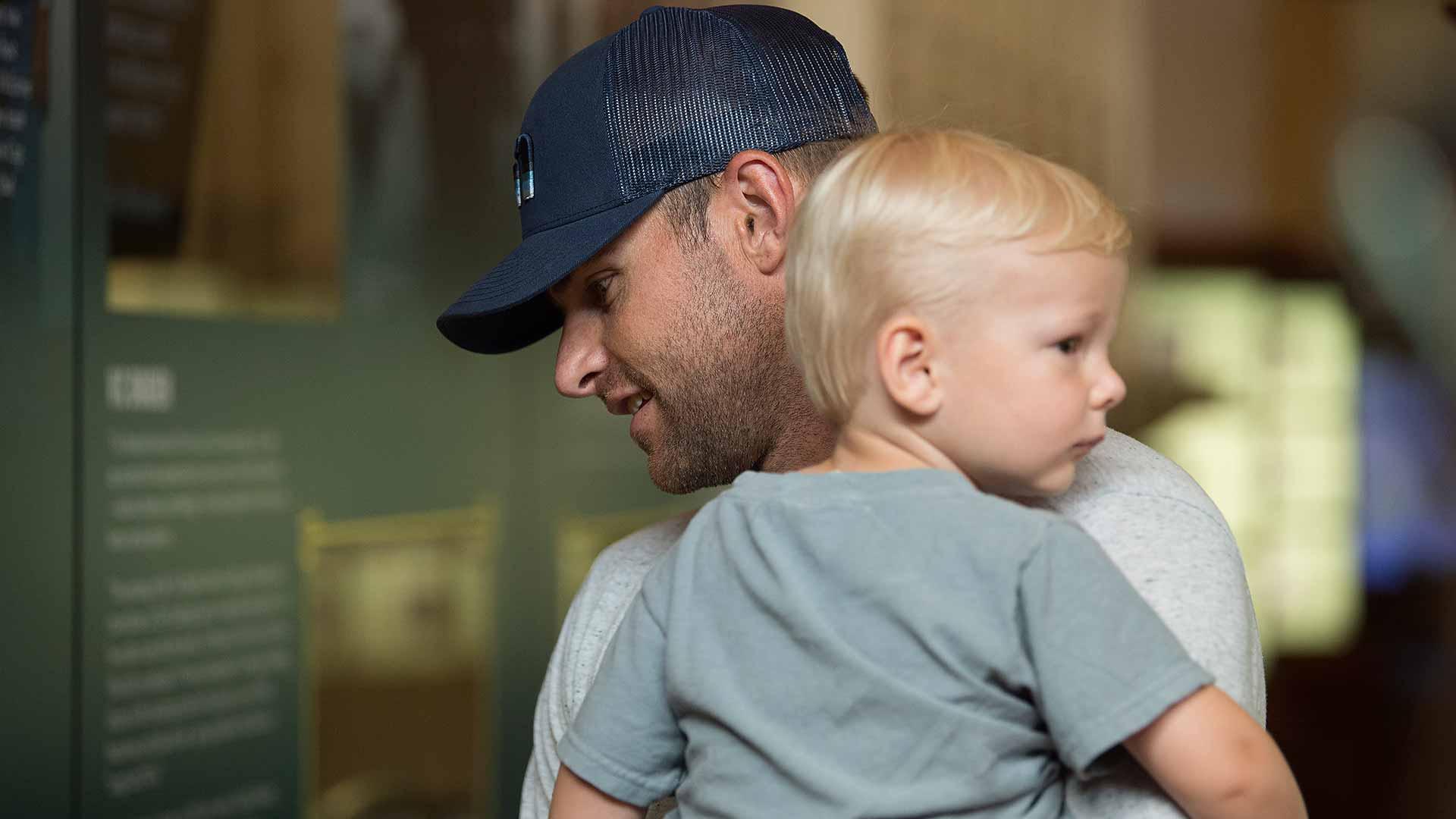 Foto van Andy Roddick & zijn Zoon Hank Roddick
