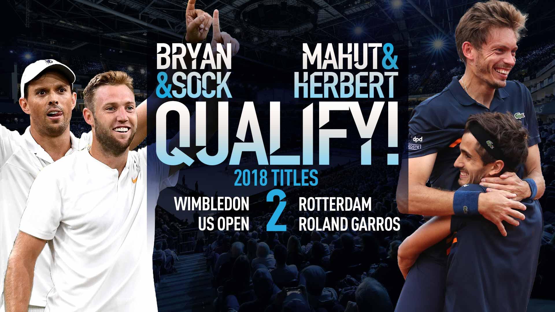 Mike Bryan/Sock & Herbert/Mahut Clinch Nitto ATP Finals Spots   ATP World Tour   Tennis