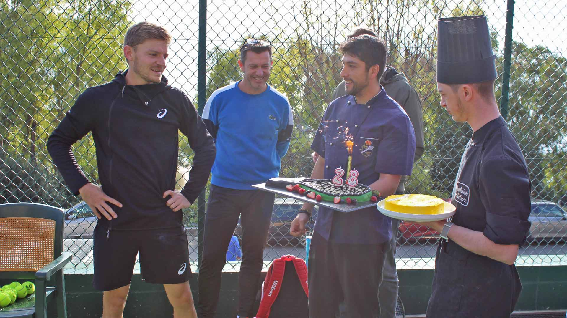 Surprise! Goffin Celebrates 28th Birthday In Monte-Carlo | ATP World Tour | Tennis