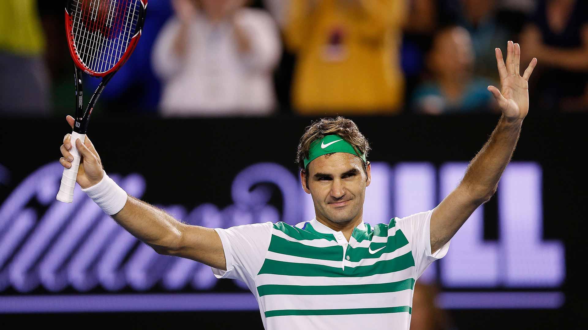Federer at Australian Open 2009 defeating Berdych. Image Courtesy: ATPWorldTour