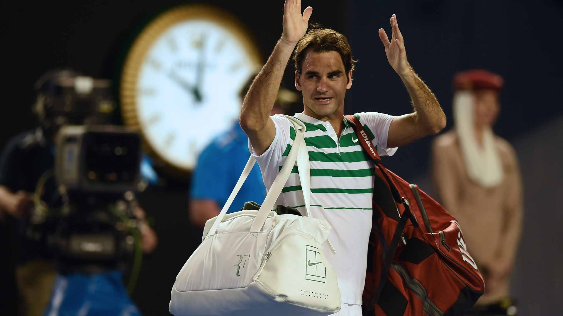 Federer Not Happy With Murray Federer Australian Open Semis Reaction