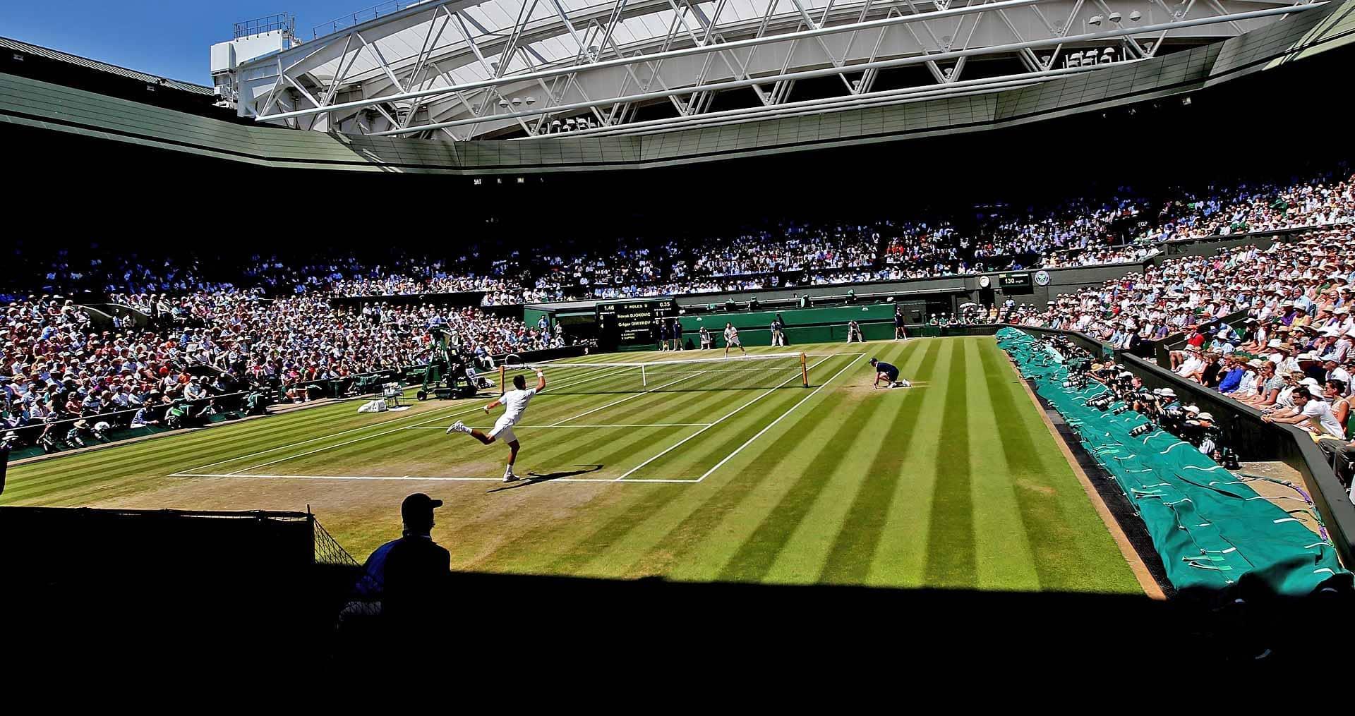 A photograph taken for the Wimbledon tennis championships