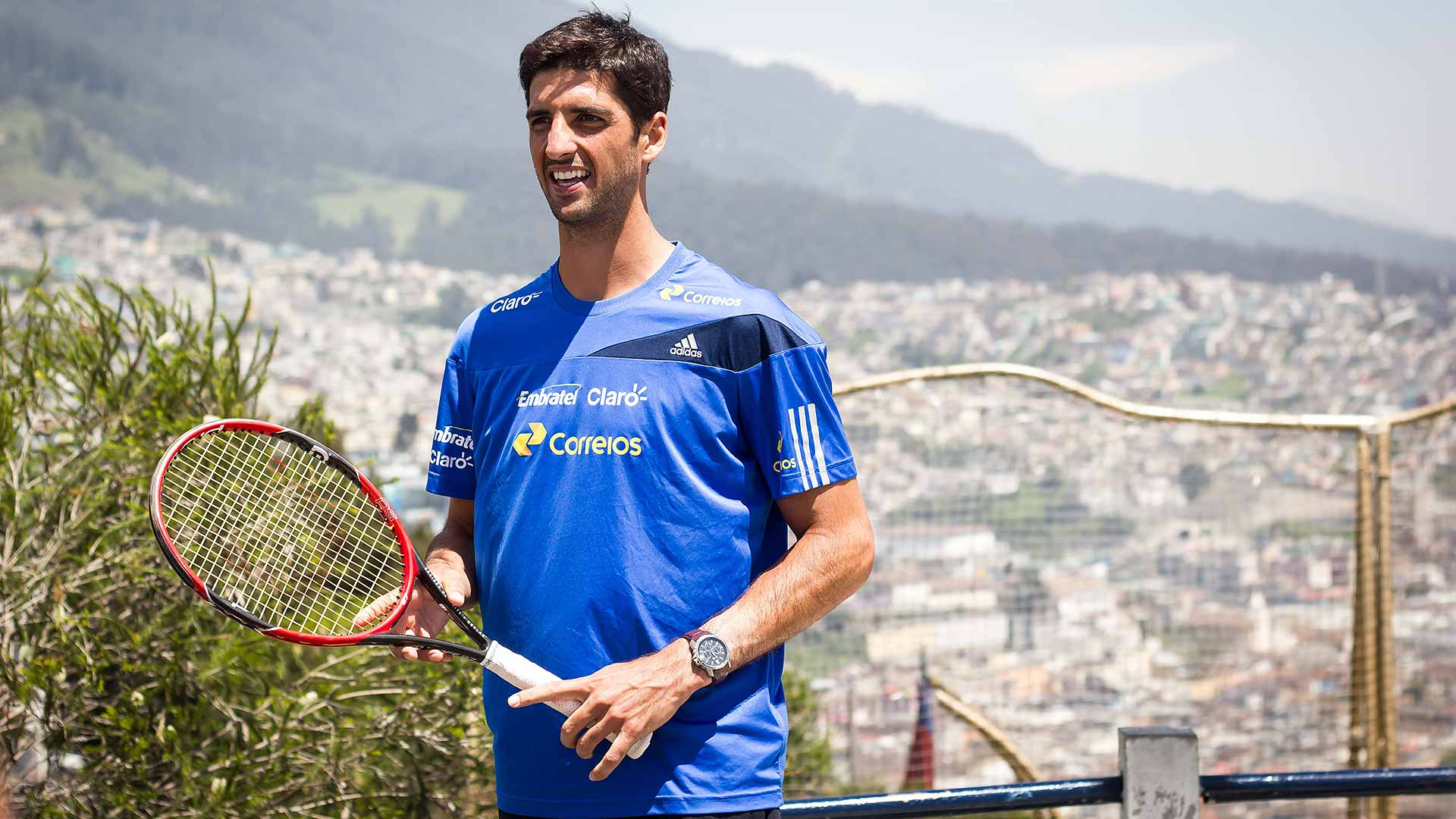 Bellucci takes on local player in Quito