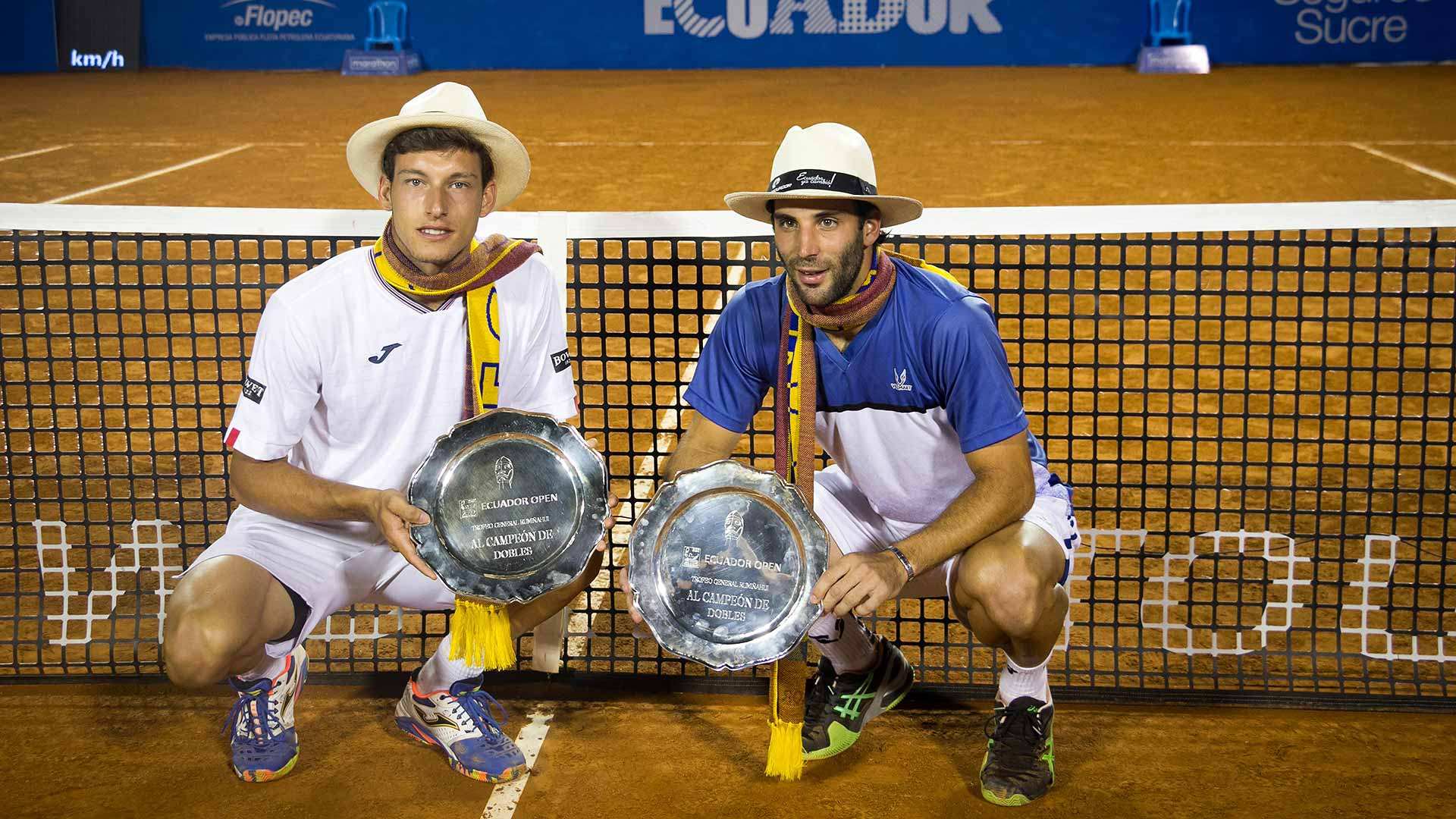 Pablo Carreno Busta and Guillermo Duran capture their first team title in Quito.