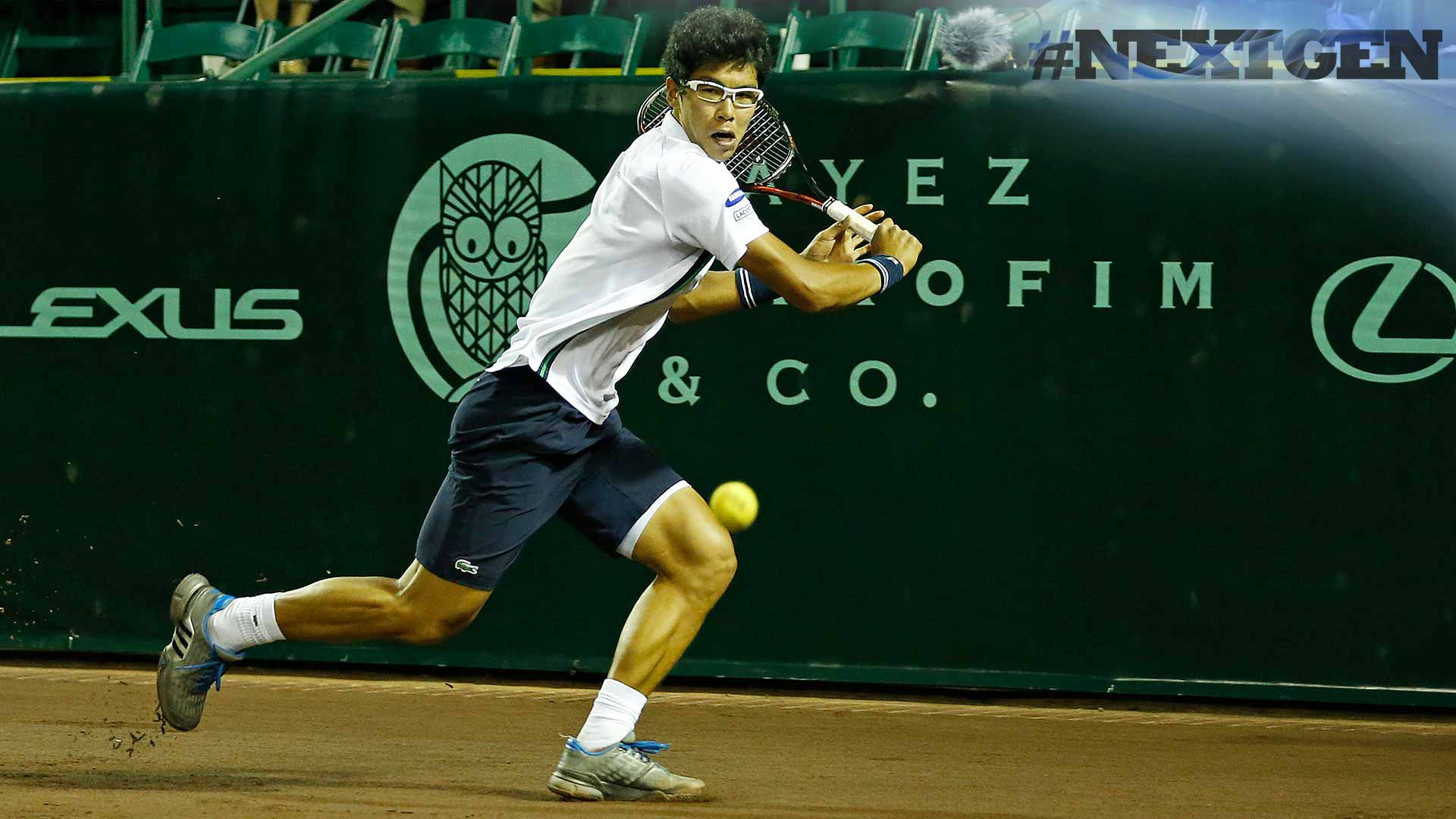 Hyeon Chung rallies against American wild card Tommy Paul.