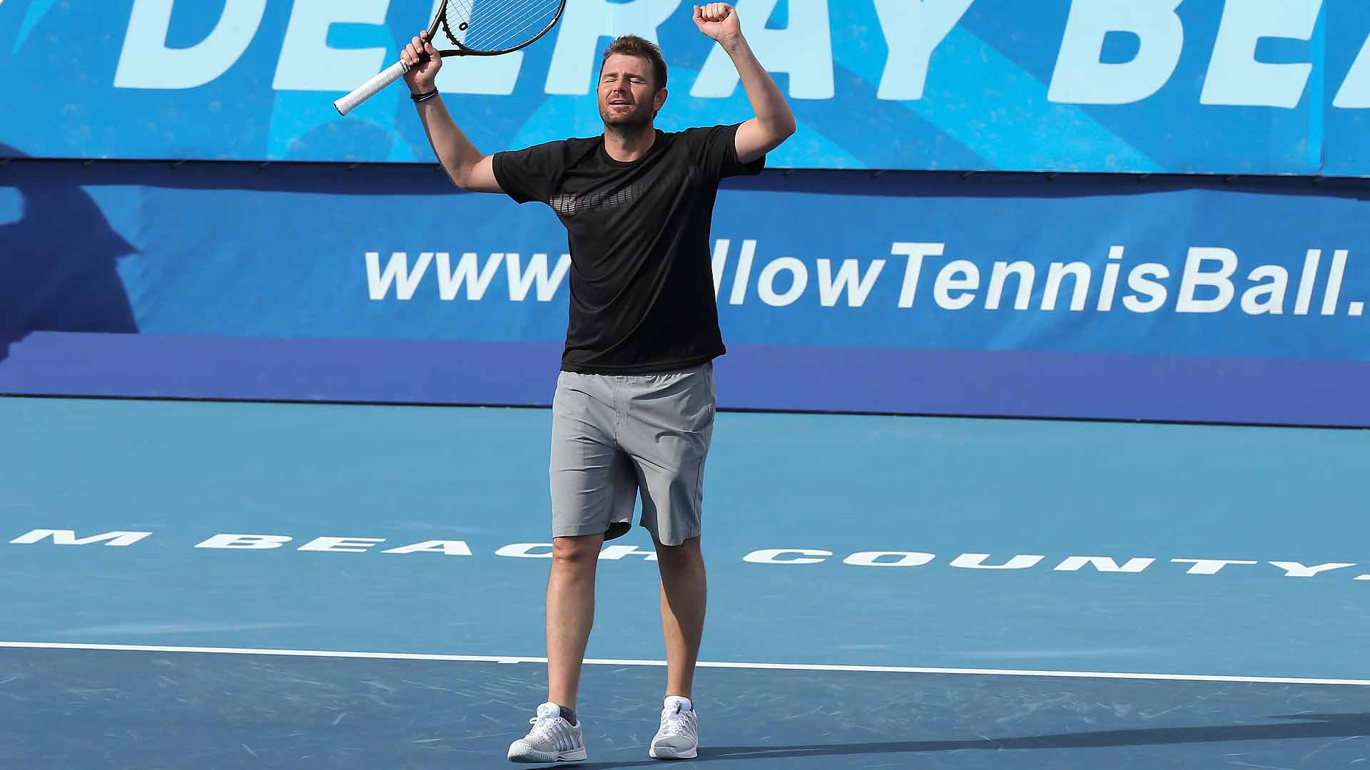 Mardy Fish helps give Team USA overall victory over Team International in Delray Beach.