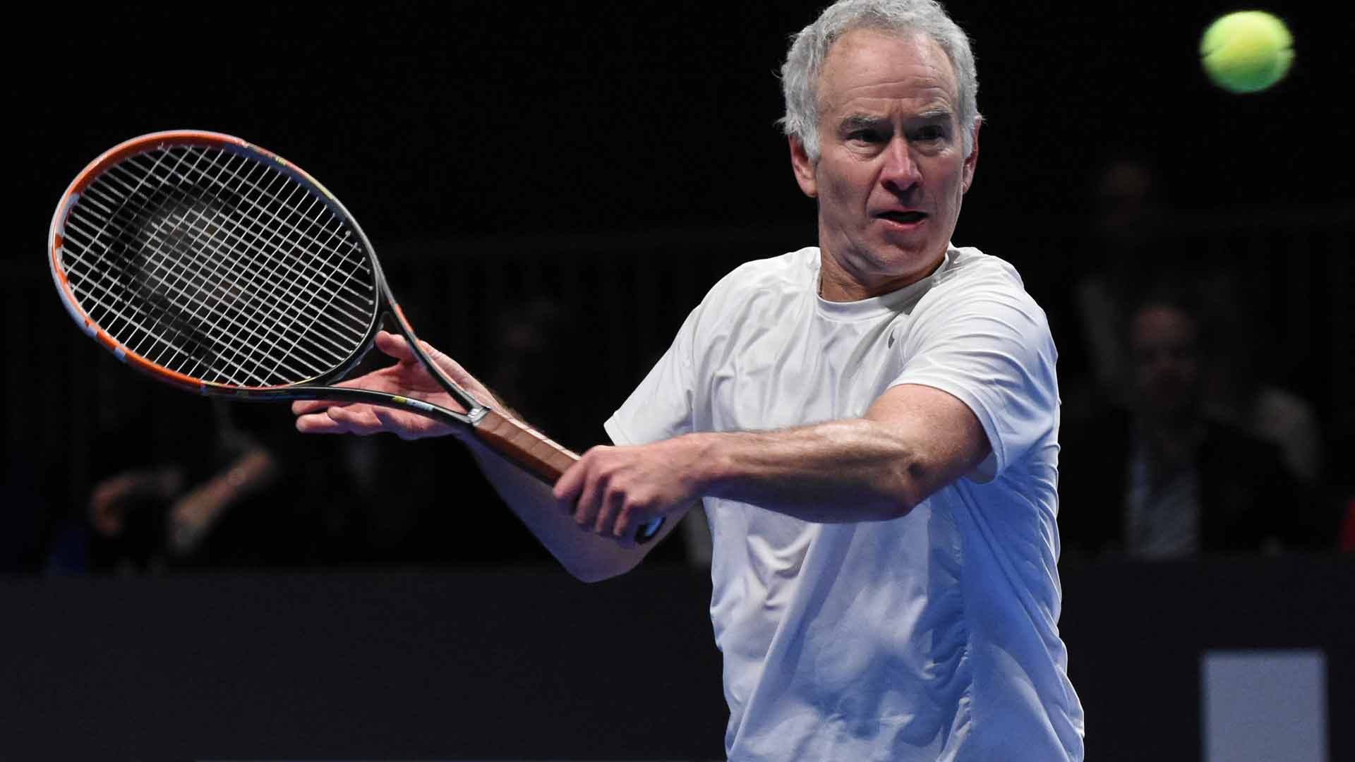 John McEnroe said he played out of his mind during the Kings of Tennis ATP Champions Tour event in Stockholm.