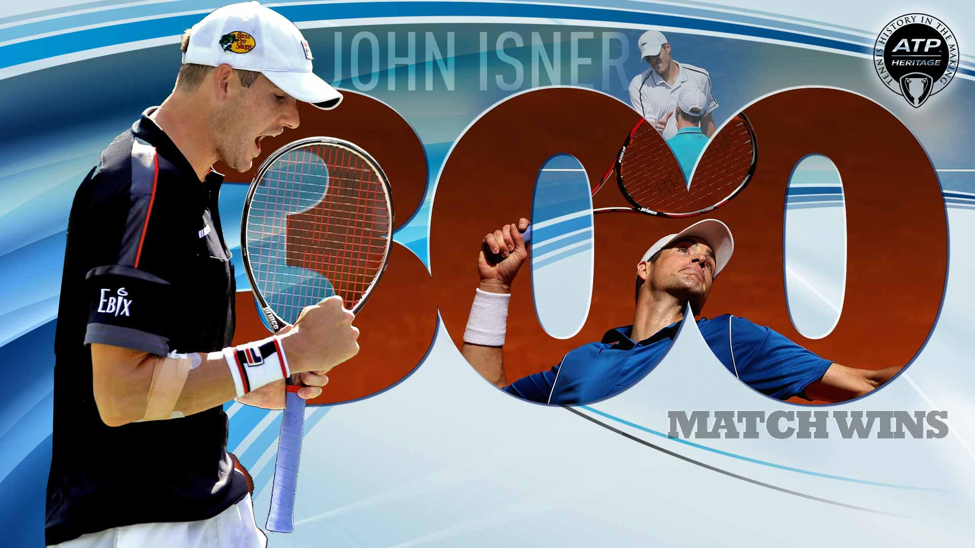 John Isner recorded his 300th win on Wednesday at Roland Garros.