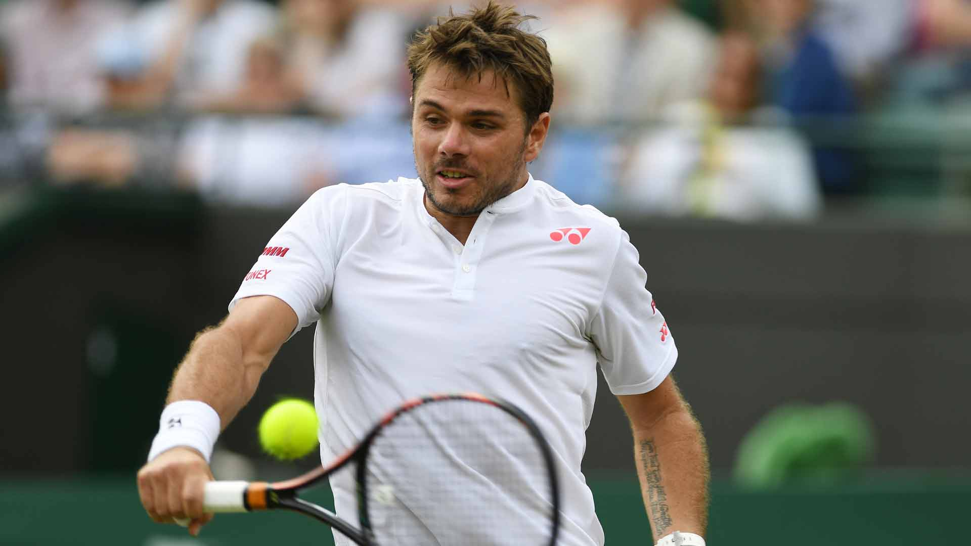Stan Wawrinka reflects on a tough opening round and another difficult test to come at Wimbledon.