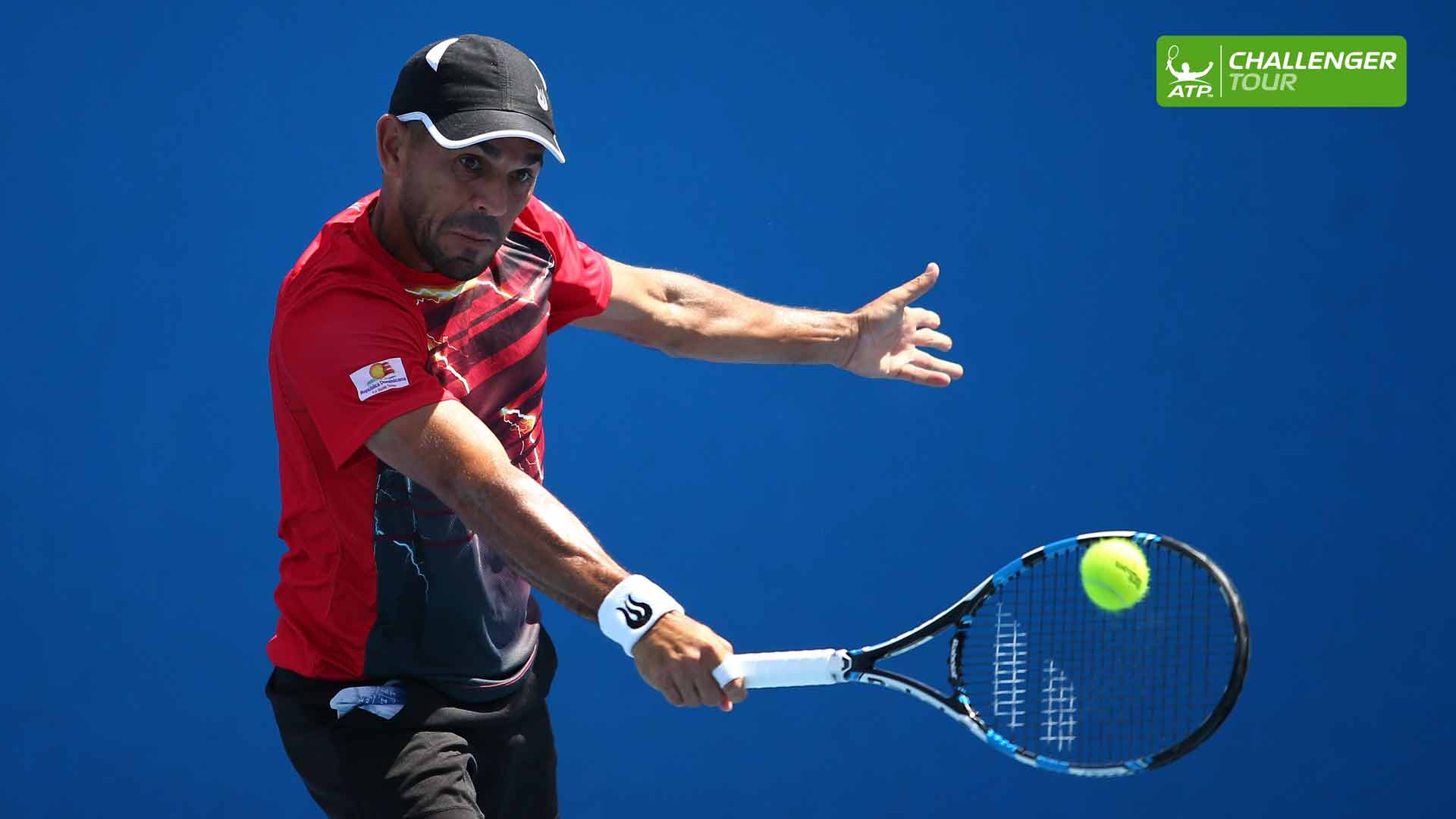 Victor Estrella Burgos is cruising through his matches at the ATP Challenger Tour event in Cali.