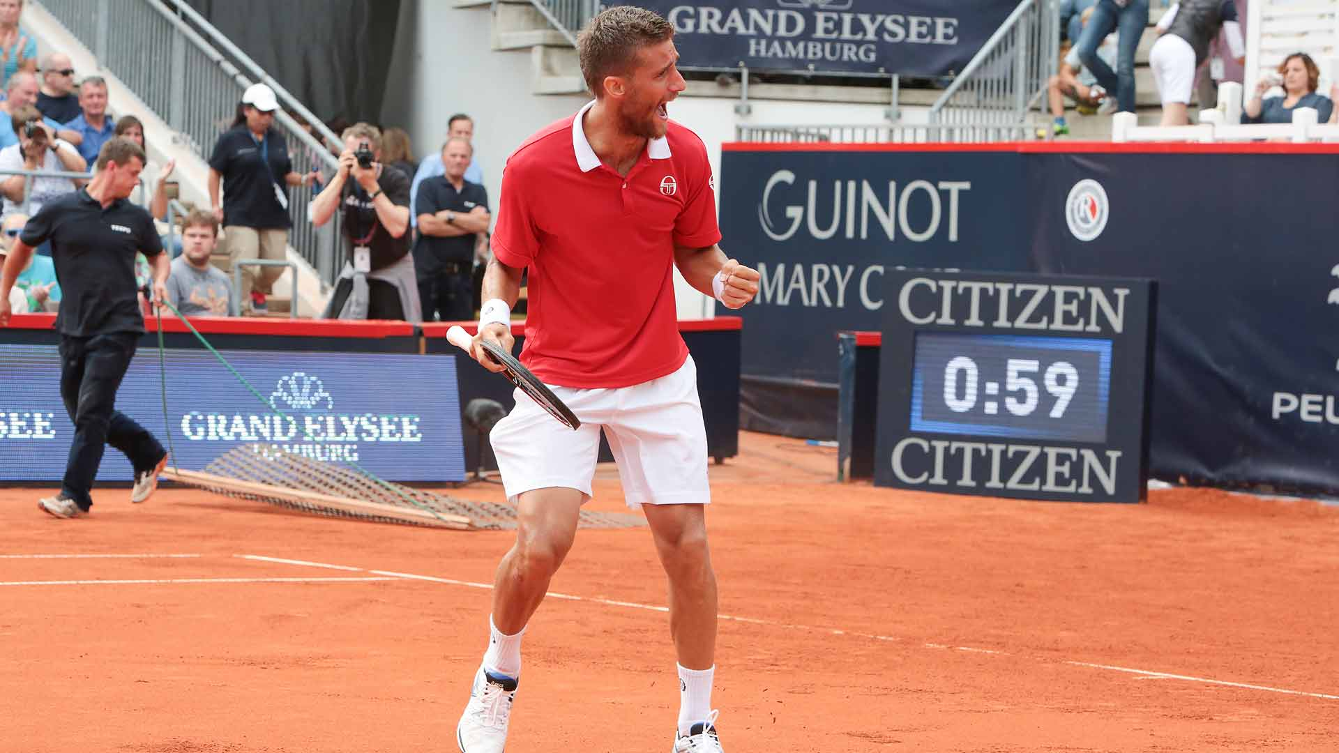 Martin Klizan didn't drop a set in capturing the German Tennis Championships 2016 in Hamburg.