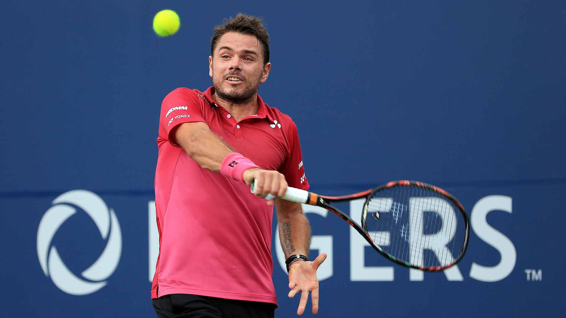 Stan Wawrinka defeats Jack Sock on Thursday to move into the quarter-finals at the Rogers Cup.
