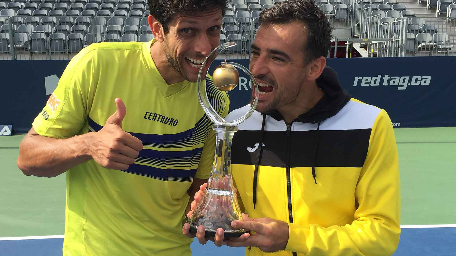 Marcelo Melo and Ivan Dodig win their third ATP World Tour Masters 1000 title in Toronto.
