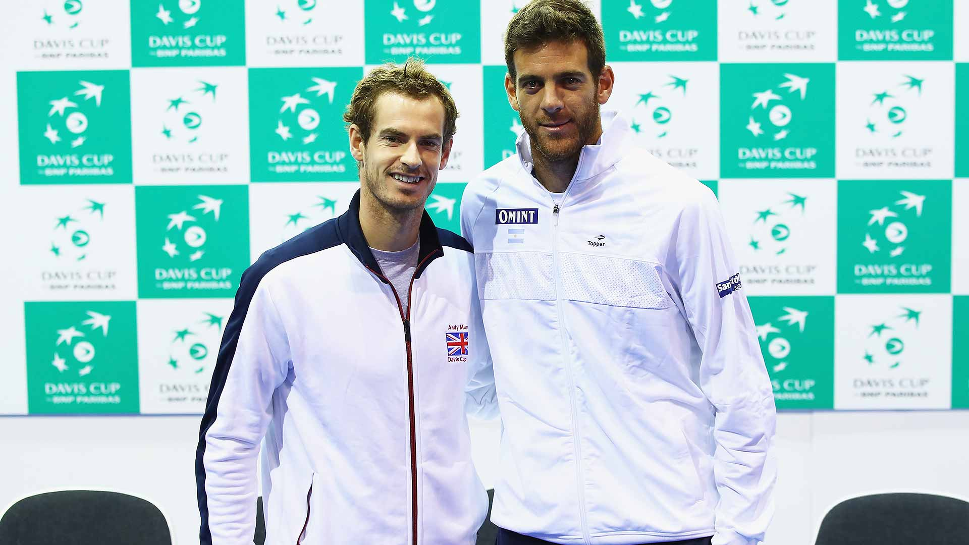 Andy Murray and Juan Martin del Potro will kick off the Great Britain-Argentina semi-final tie on Friday.