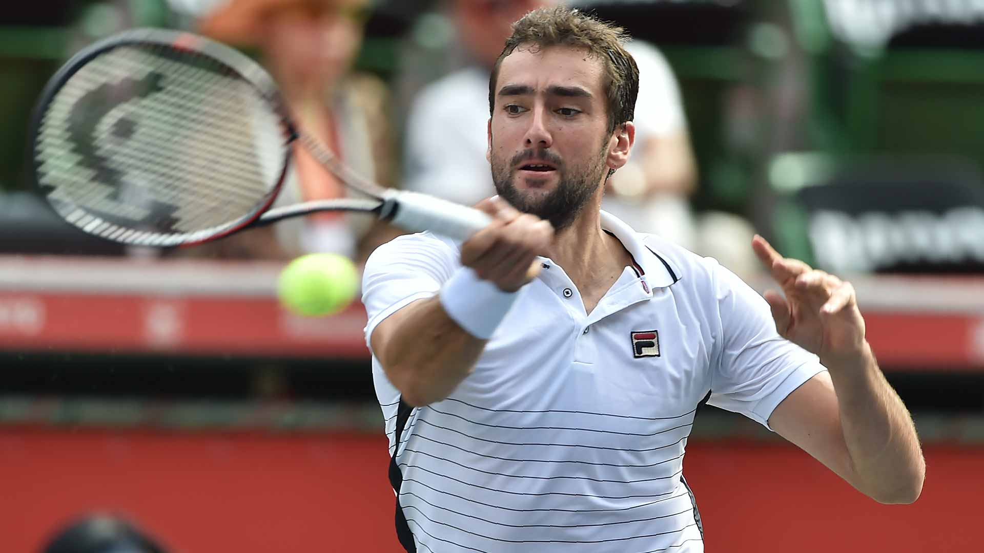 Marin Cilic will aim for his first win over David Goffin in the semi-finals.
