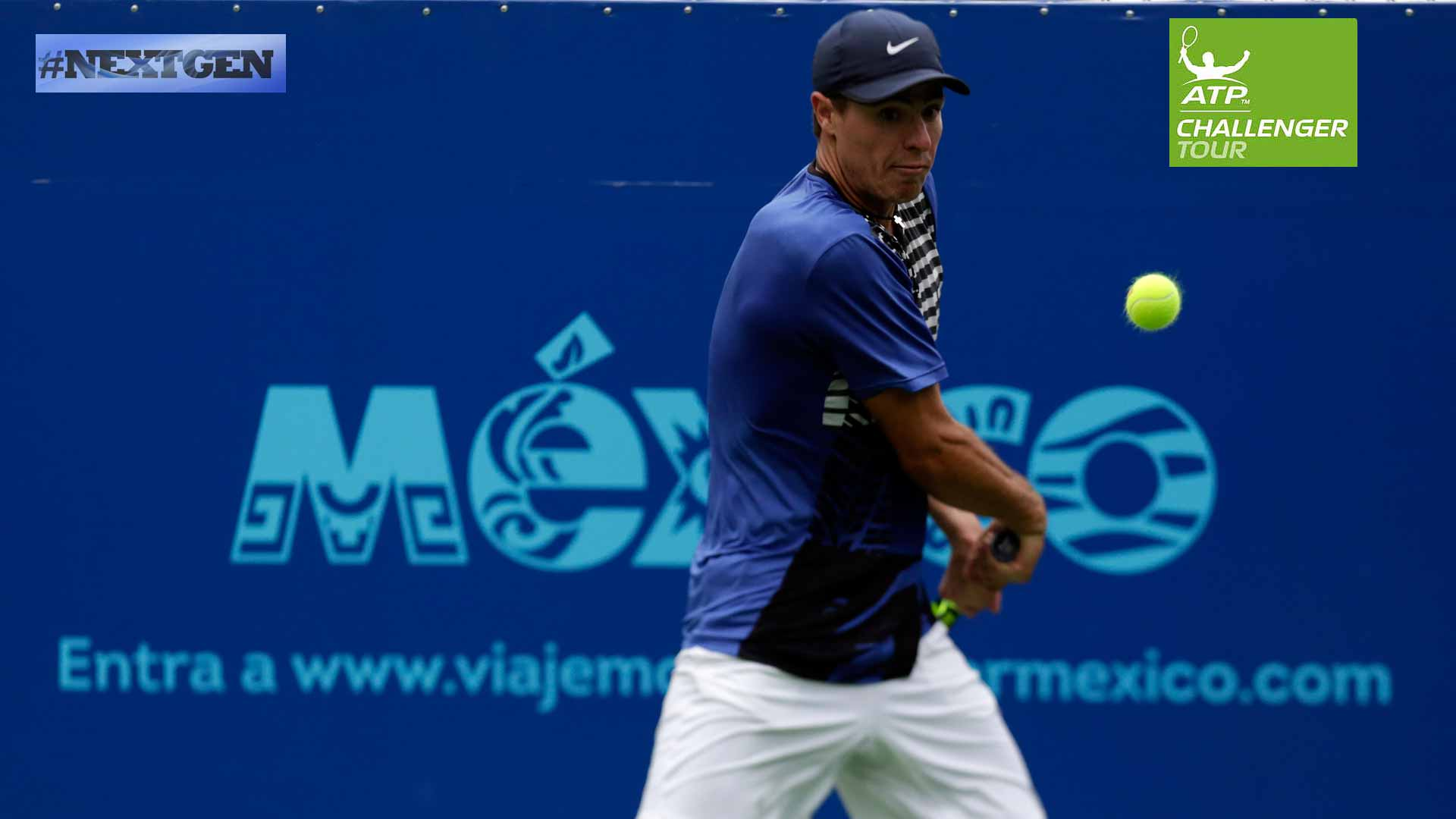 Ernesto Escobedo looks for another Challenger title in Monterrey.