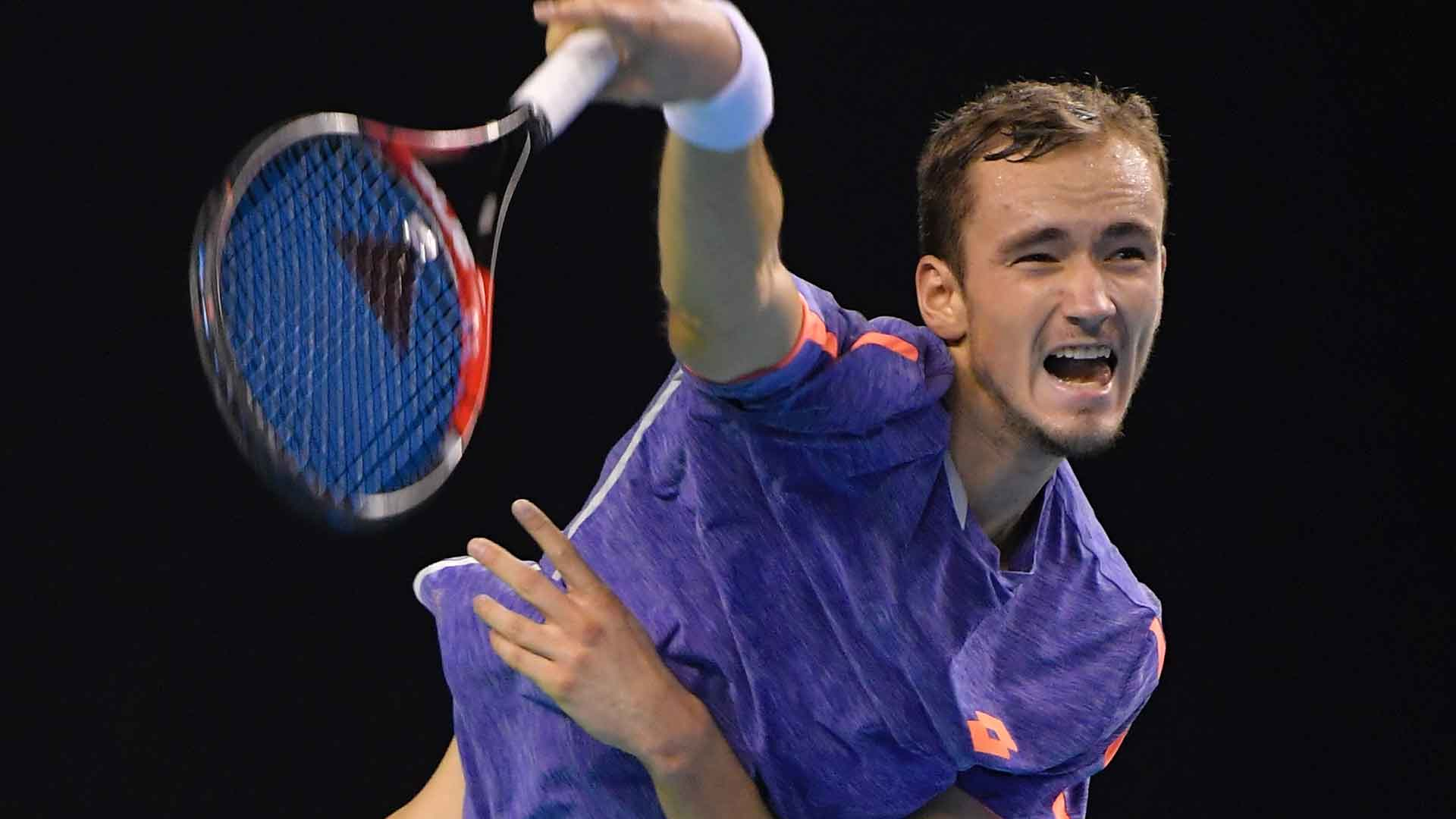 Qualifier Daniil Medvedev reached his first ATP World Tour quarter-final in Moscow.