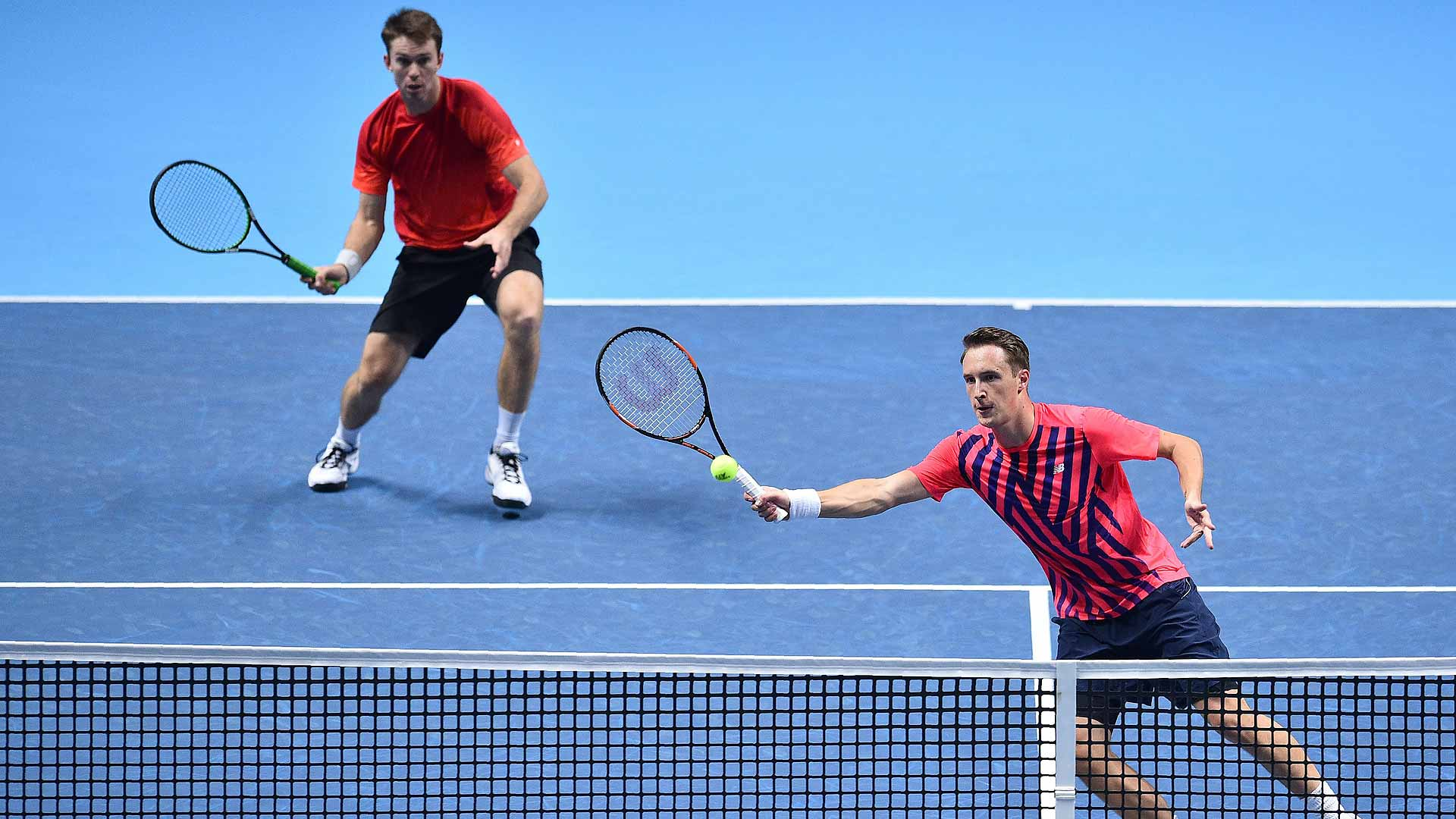 John Peers (L) and Henri Kontinen prevail on Monday at the Barclays ATP World Tour Finals.