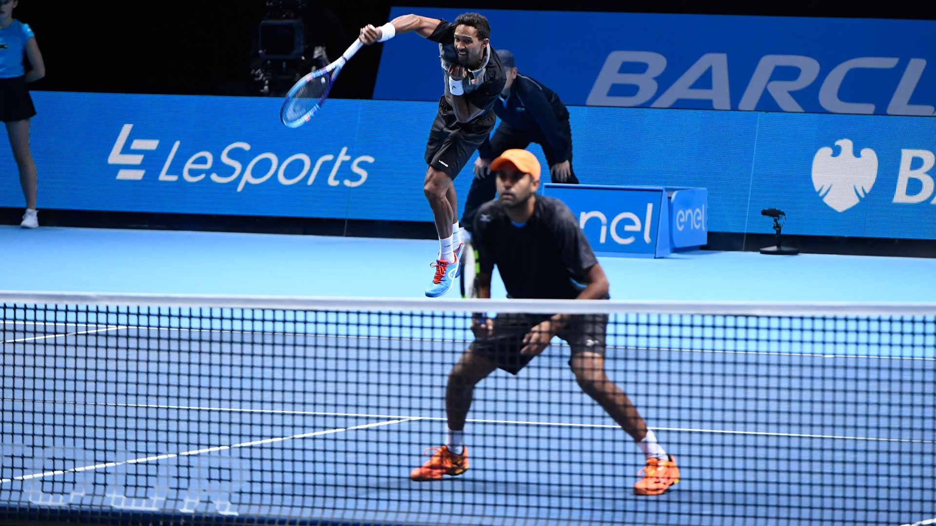 Raven Klaasen (L) and Rajeev Ram continue their dream run at the Barclays ATP World Tour Finals.