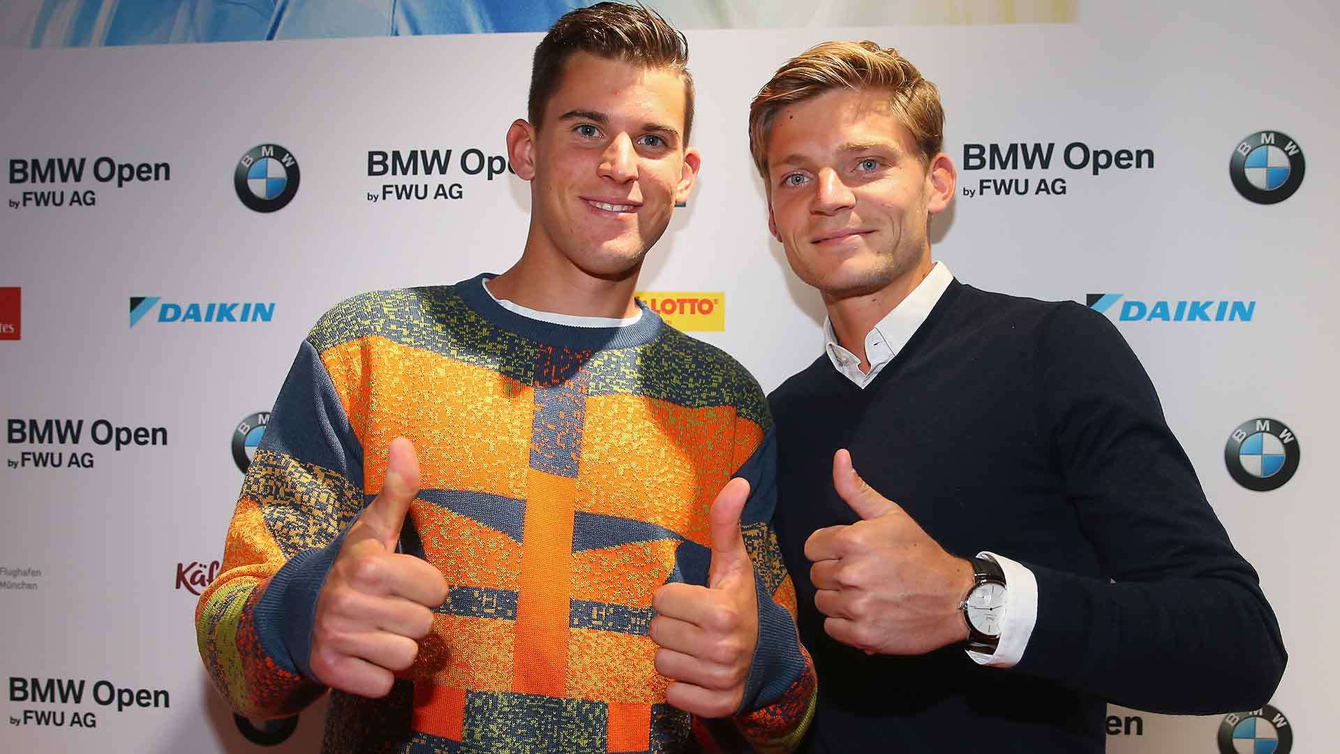 Thiem Goffin Munich 2016 Players Party